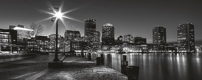 New York at Night Panoramic Photo Wall Mural 275VEP