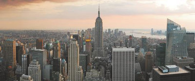 New York Panoramic Photo Wall Mural 133VEP