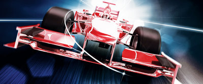 Red Formula 1 3D F1 Panoramic Photo Wall Mural 325VEP