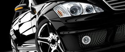 Black Luxurious Car Panoramic Photo Wall Mural 416VEP