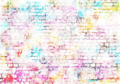 Kleurrijke Bakstenen Fotobehang 13042P8