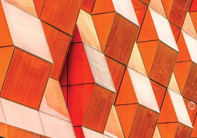 Grafisch 3D Gebouw Fotobehang 12654P8