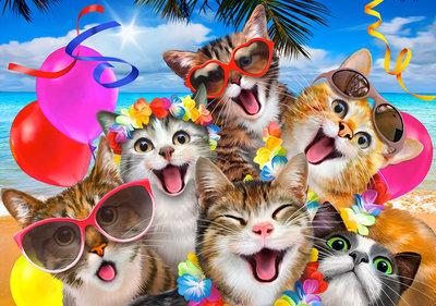 Katten Selfie Fotobehang 12866P8