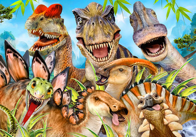 Dino's Selfie Fotobehang 12846P8