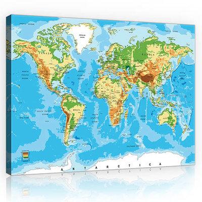 World Map Canvas Schilderij PP10250O1