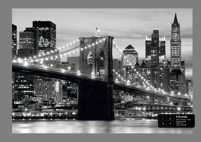 Dutch Wallcoverings AG Design Brooklyn Bridge B&W (4 Delen) FTS0199