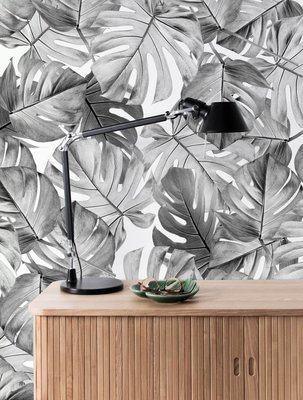KEK Monstera black & white 2d WP-583 (Met Gratis Lijm)