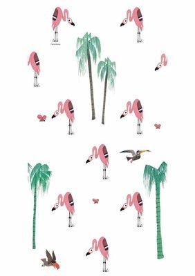 KEK Behang Flamingo WP-122 (Met Gratis Lijm)