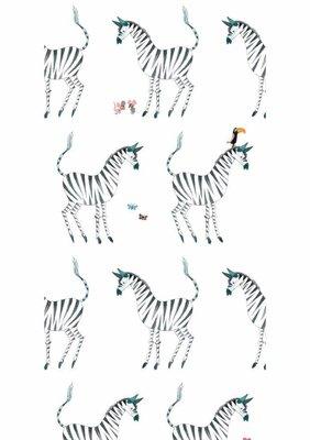 KEK Behang Zebra, white WP-124 (Met Gratis Lijm)