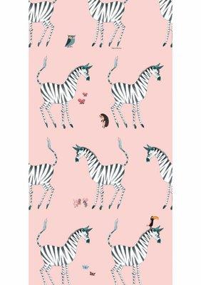 KEK Behang Zebra, pink WP-125 (Met Gratis Lijm)