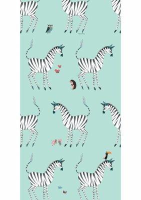 KEK Behang Zebra, mint WP-128 (Met Gratis Lijm)