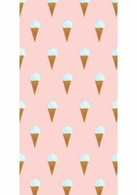 KEK Behang Ice cream, pink WP-129 (Met Gratis Lijm)
