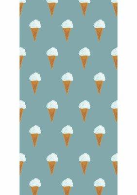 KEK Behang Ice cream, petrol WP-130 (Met Gratis Lijm)