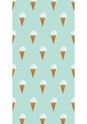 KEK Behang Ice cream, mint WP-131 (Met Gratis Lijm)