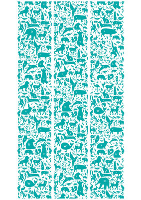 KEK Amsterdam animal alphabet turquoise WP.052