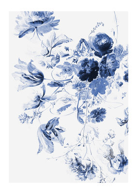 KEK Amsterdam Royal Blue Flowers III WP.209
