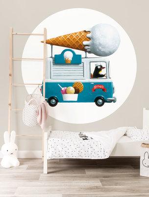 KEK Circle Ice cream Truck CK-039 (FREE Glue Included!)