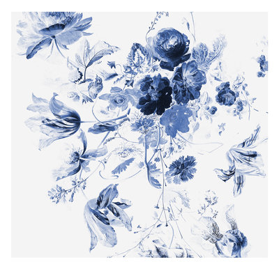 KEK Amsterdam Royal Blue Flowers III WP.219