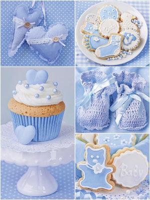 Blue Dreamy Cupcakes Photo Wall Mural 10444VEA