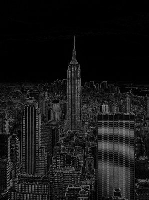 Black and White Sketch of City Photo Wall Mural 10687VEA