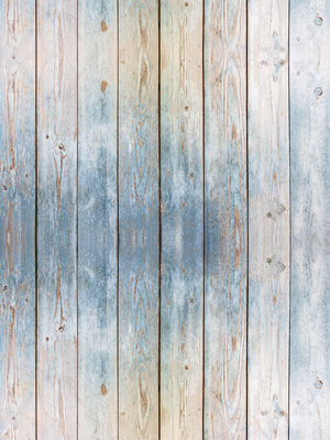 Blue Wooden Planks Photo Wall Mural 10670VEA