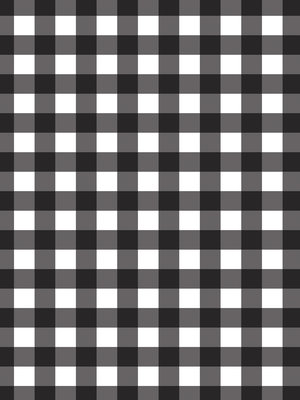 Black and White Chequer Photo Wall Mural 10680VEA