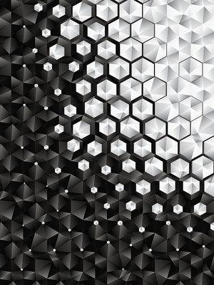 3D Hexagons  Photo Wall Mural 10684VEA