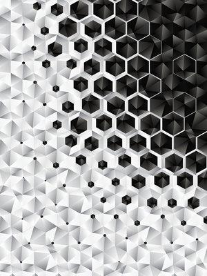 3D Hexagons  Photo Wall Mural 10685VEA