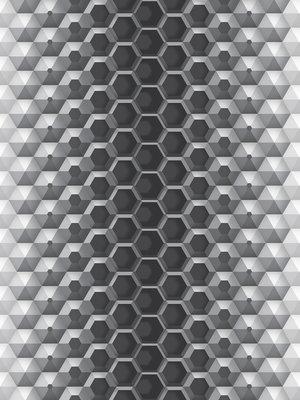 3D Hexagons Photo Wall Mural 10762VEA