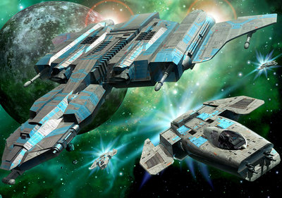 Space ships Photo Wall Mural 13291P8