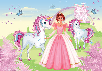 Princess with unicorns Photo Wall Mural 13240P8
