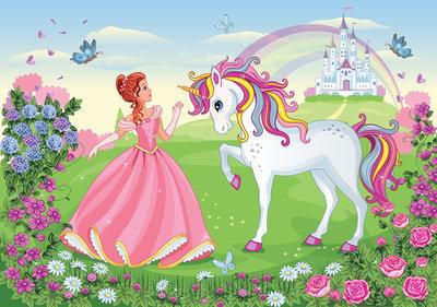 Princess with unicorn Photo Wall Mural 13238P8