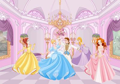 Princesses at the ball Photo Wall Mural 13237P8