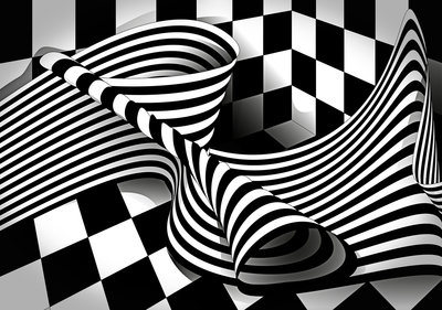 Op-art Photo Wall Mural 13176P8