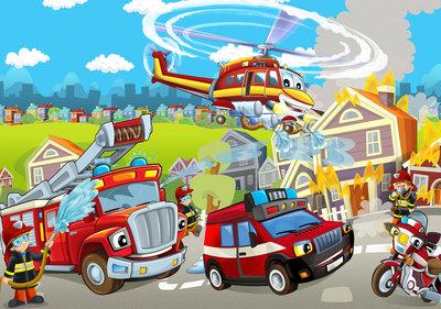 Fire Brigade Photo Wall Mural 12549P8