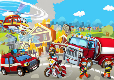 Fire Brigade Photo Wall Mural 12548P8