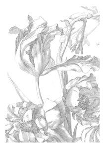 KEK Amsterdam Engraved Flowers I WP.327