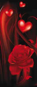 Red Hearts Art Abstract Door Mural Photo Wallpaper 300VET