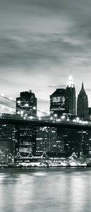 New York City and Brooklyn Bridge Door Mural Photo Wallpaper 226VET
