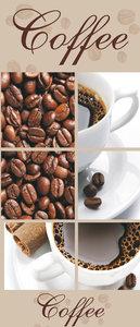 Coffee Beans and Cups Collage Door Mural Photo Wallpaper 114VET
