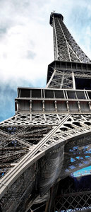 Eiffel Tower Urban City Paris Door Mural Photo Wallpaper 144VET
